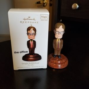 DWIGHT BOBBLEHEAD THE OFFICE HALLMARK ORNAMENT